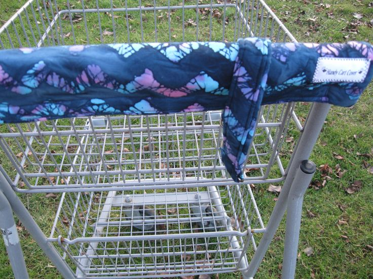 Shopping Cart Cover, Cart Handle Cover,W/Purse Collar, Shopping Cart Covers, Blue Tye Dye Print Cart Cover, Shopping, Handy Cart Cover by CountryCrafting on Etsy