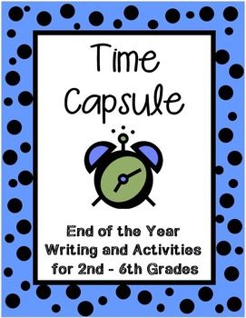 This Project has 25 pages, filled with everything you need to lead your class through this end of the year project, including detailed teacher notes. I really love this time capsule, as it's a great activity to do during the last week or two, when most kids have shut down for the year. This is an extremely motivating project and it has a purpose…to create your very own time capsule! (TpT Resource)