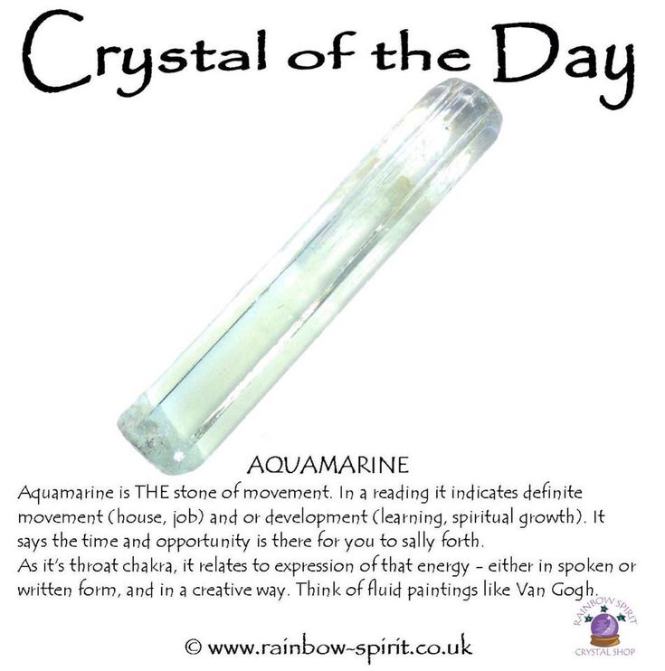 Crystal of the Day by Rainbow Spirit crystal shop, showing a little of the healing properties and divination meanings