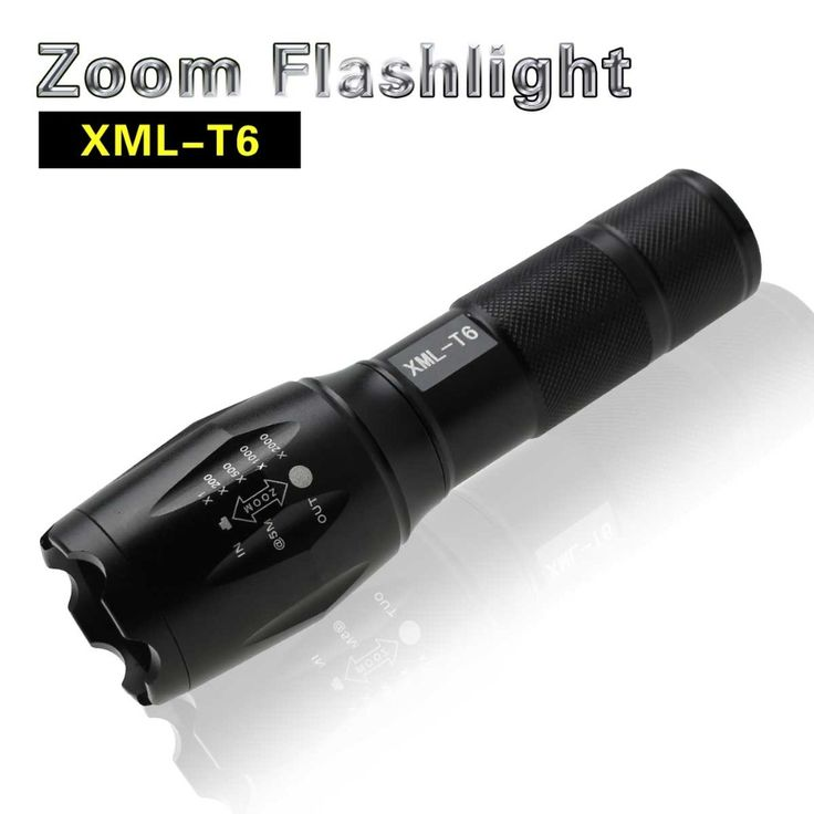LED E17 CREE XML T6 Flashlight 3800LM Waterproof lighting Aluminum Torch light 5 Modes Zoomable Flashlight Led For Outdoor