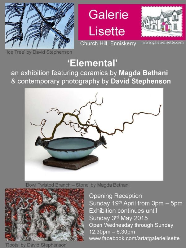 You are all invited at the exhibition entitled, 'Elemental' featuring my work and photographer's, David Stephenson