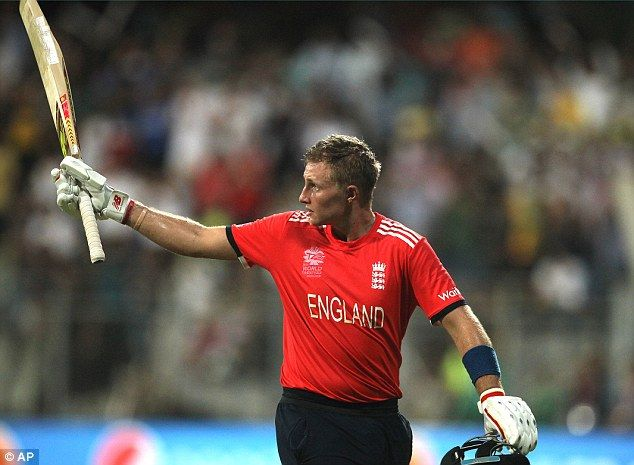 Joe Root acknowledges the crowd after inspiring England to victory over South Africa at the World Twenty20