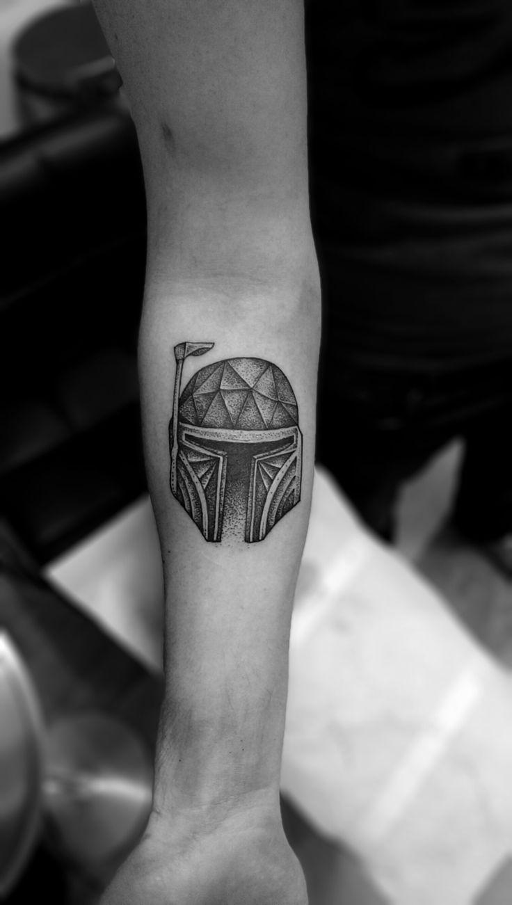 boba fett tattoo, starwars tattoo by https://www.facebook.com/TomtomTatt