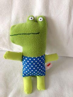 Made By Soen: Krokodil, uit zachte knuffels van stof