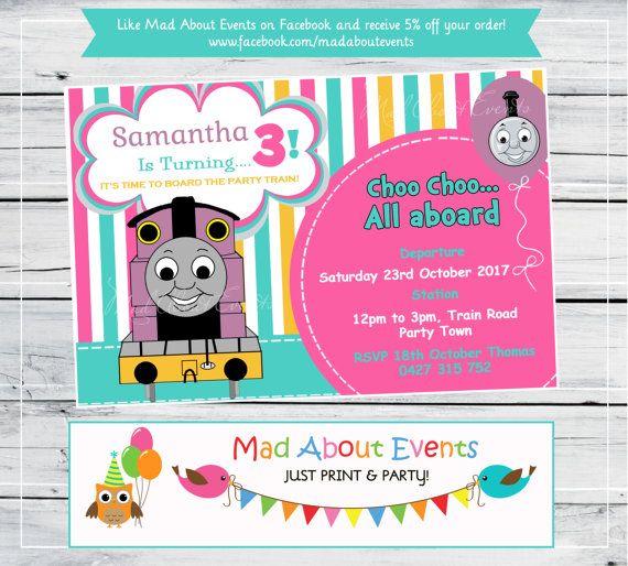 86 best thomas train invitations images on pinterest birthday party ideas thomas the train