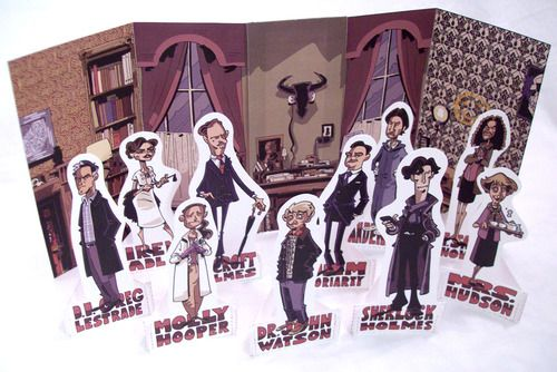 FREE Printable, SHERLOCK Paper Figures by the amazing Chris Schweizer- author of the Crogan Adventures series.