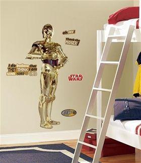 Väggdekor Star Wars, C-3PO (146 cm) - Hem