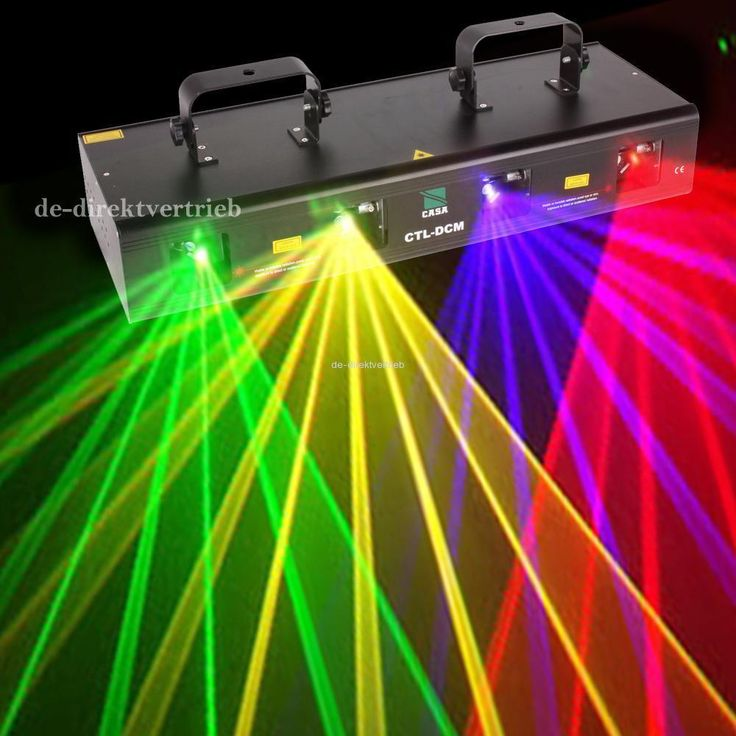 4 Lens 4 Beam RGPY DJ Disco Laser Light Stage Party Show DMX 7CH 460mW #Unbranded