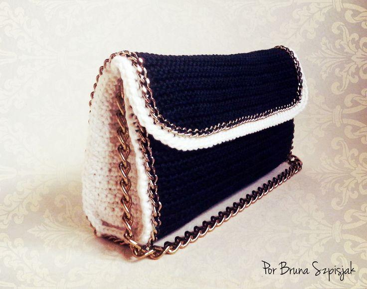 Artesanato com amor...by Lu Guimarães: Carteira de Crochê Chanel