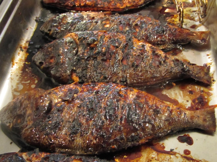 Food from Indonesia: ikan bakar kecap, fried fish with soy sauce