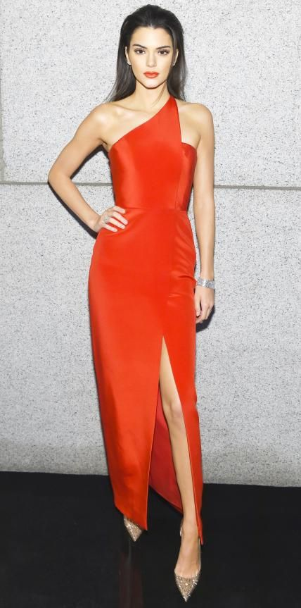 Look of the Day - February 12, 2015 - Kendall Jenner in Romona Keveza from #InStyle