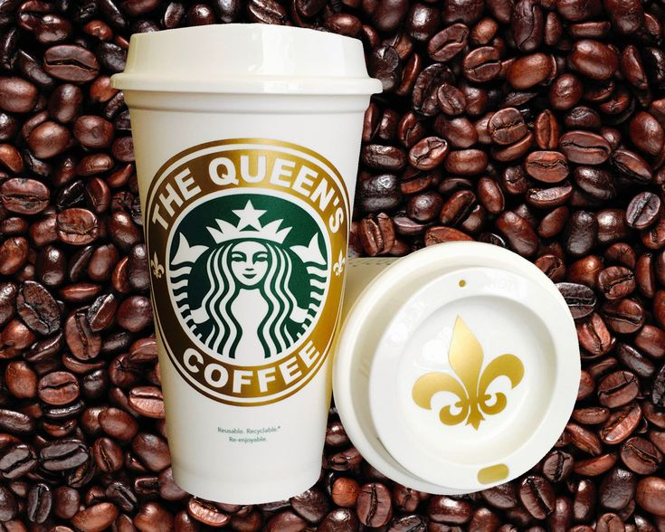 The Queen's Coffee - NEW! Royal Gold Collection - Personalized Coffee Travel Mug Starbucks Parody - pinned by pin4etsy.com