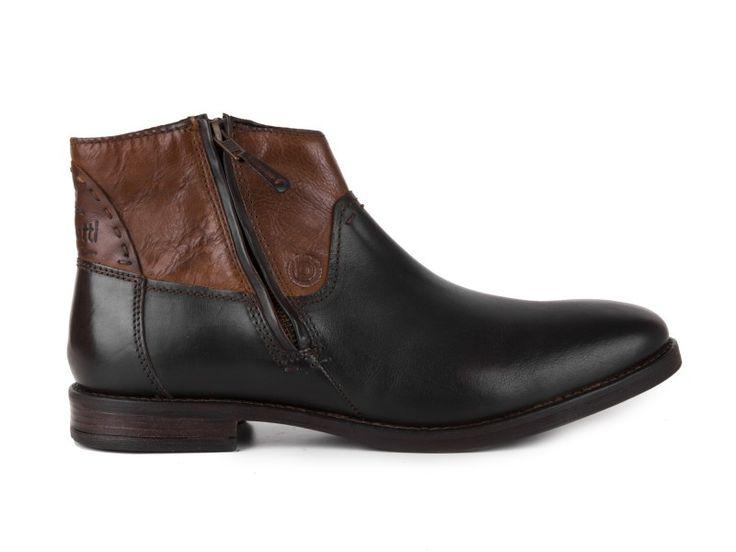 Bugatti - Pánské kotníkové kožené boty Genevo U5430-4W / hnědá | obujsi.cz - dámská, pánská, dětská obuv a boty online, kabelky, módní doplňky