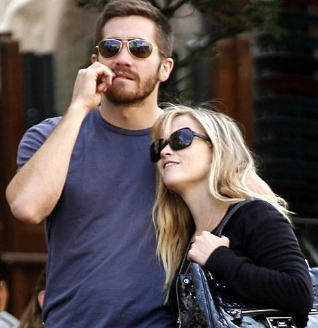 """Jake Gyllenhaal with ex-girlfriend Reese Witherspoon-From """"15 of Jake Gyllenhaal's Relationships"""""""