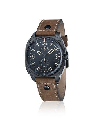 66% OFF AVI-8 Men's AV-4010-03 Hawker Hunter Brown/Black Stainless Steel Watch