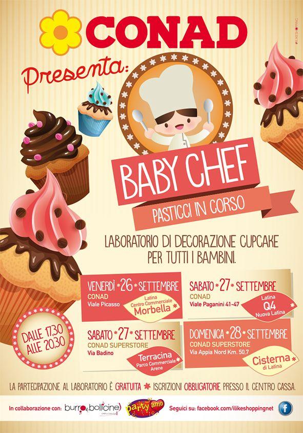 #conad superstore #baby chef evento dedicato ai bambini, laboratorio di creatività per la realizzazione di pupazzetti in pasta di zucchero