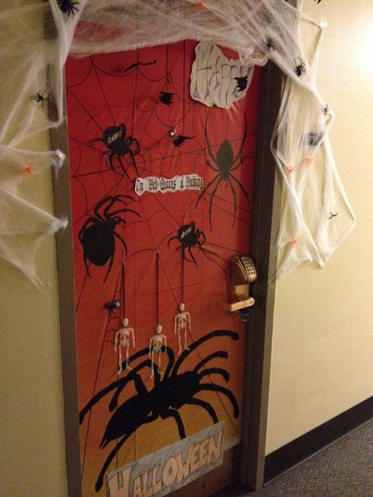 Halloween dorm decorations dorm room doors halloween dorm dorm door decorations - Stuff to decorate your room ...