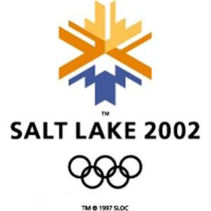 Official logo for the winter Olympic games in Salt Lake City 2002