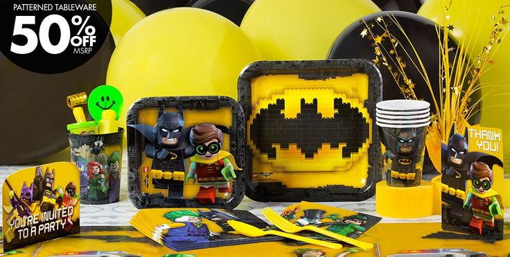 Lego Batman Movie Party Supplies