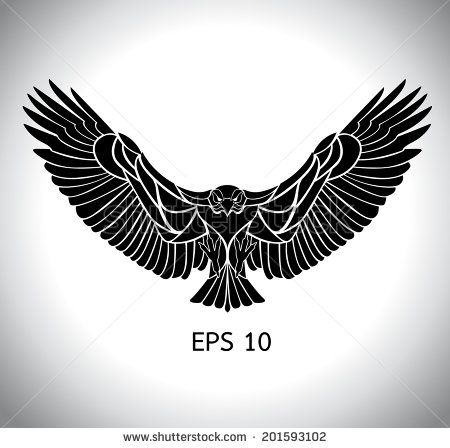 Tribal tattoo wings Stock Photos, Tribal tattoo wings , black eagle