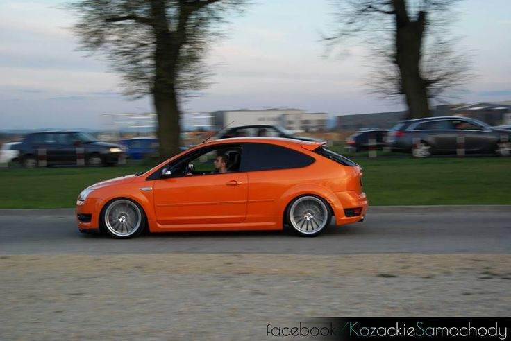 electric orange ford focus st mk2 before facelifting from. Black Bedroom Furniture Sets. Home Design Ideas