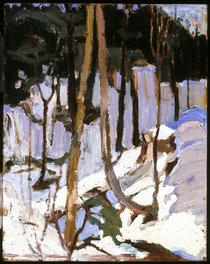 Tom Thomson Catalogue Raisonné | Algonquin Hillside, Snow, Fall 1916 (1916.159) | Catalogue entry