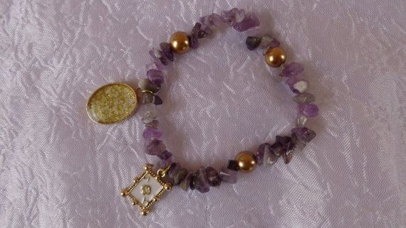 Purple Confusion Bracelet No1. A stretch by ArtisticBreaths,..