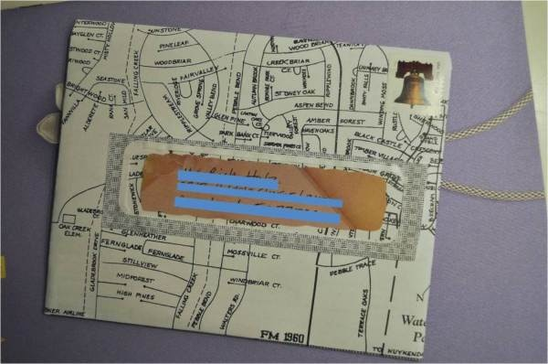map letter: Colors Paper, Maps Letters, Altered Envelopes, Paper Notelet, Recycled Paper, Paper Wasting,  Slipstick, Paper Envy, Reduce Paper