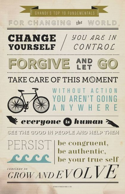GhandiThoughts, Words Of Wisdom, 10 Fundamentals, Inspiration, Quotes, Tops 10, Gandhi Tops, Wise Words, New Years