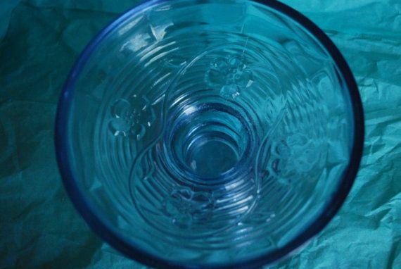 Vintage Blue Candle Holder or Dish