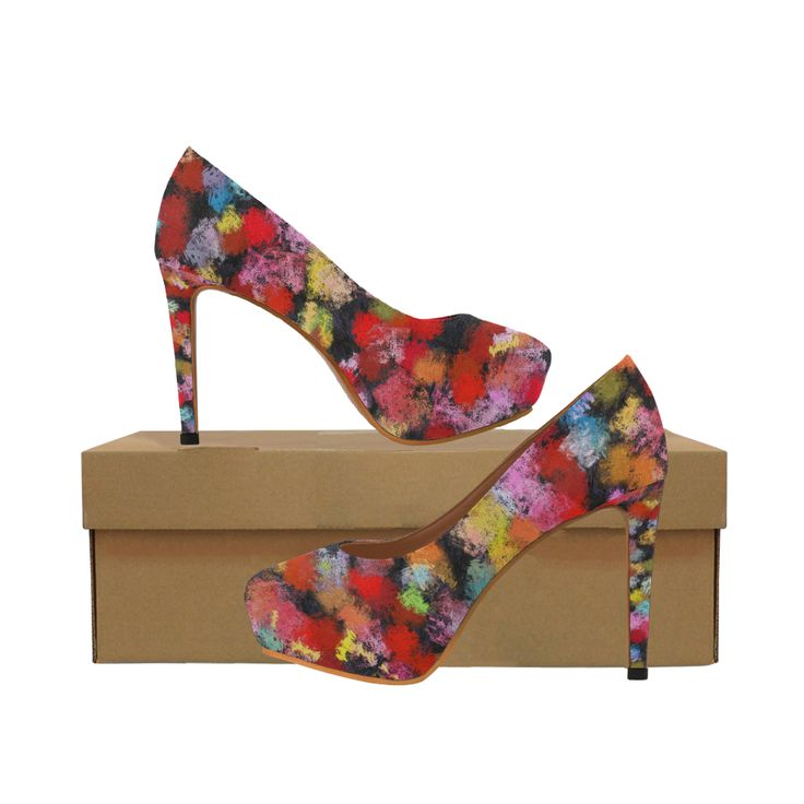 Colorful paint strokes Women's High Heels