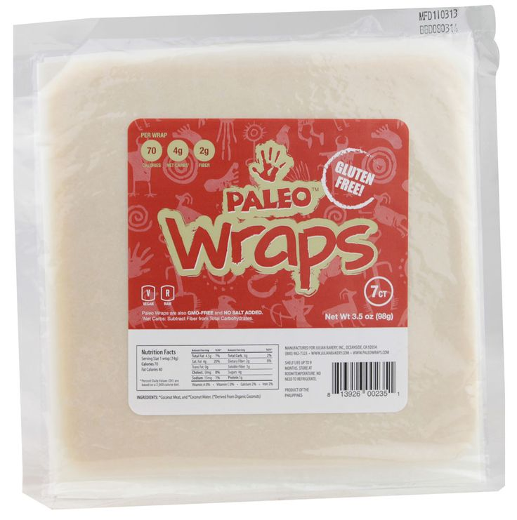 Julian Bakery Gluten Free Paleo™ Wraps - these are really good!!  They wrap up soooo nice! They don't even crack - at all!!  Hint of coconut taste! GFCF (gluten free, dairy free), soy free, vegan, paleo