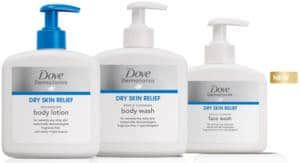 HURRY!! Get a FREE sample of Dove DermaSeries Body Wash, Face Wash, and Body Lotion.