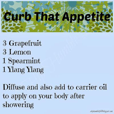 Curb That Appetite essential oil blend ~ Topical and diffuser