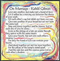 On Marriage magnet - Kahlil Gibran