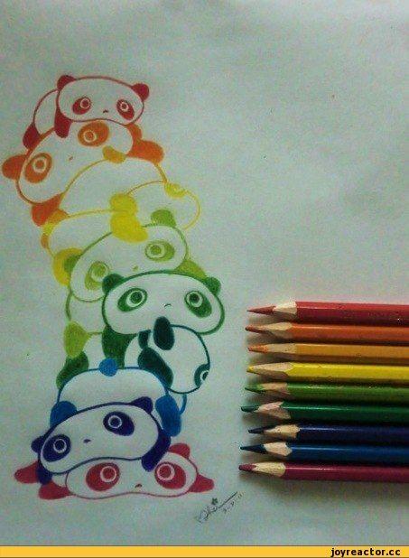 панда любовь рисунки карандашом - Поиск в Google