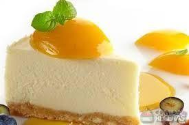 Receitas - cheesecake de pêssego - Petiscos.com
