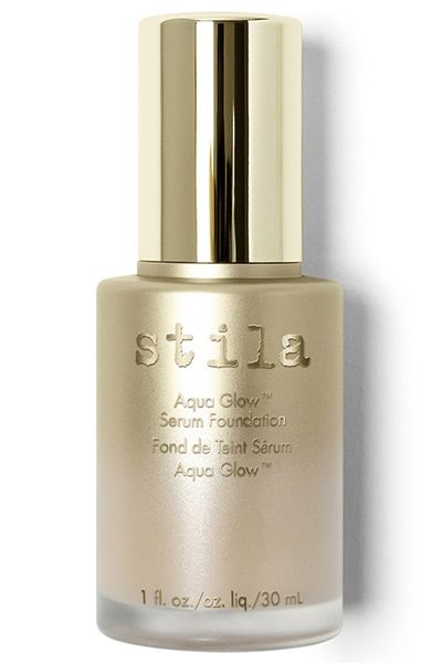 Best New Foundations 2016: Stila Aqua Glow Serum Foundation, $45 | This water-based formula with hyaluronic acid evens out skin and gives you a perfect dewy complexion. Great for hiding dull, tired skin—or hangovers!