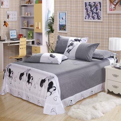 Mickey and Minnie Gray Bedding Set