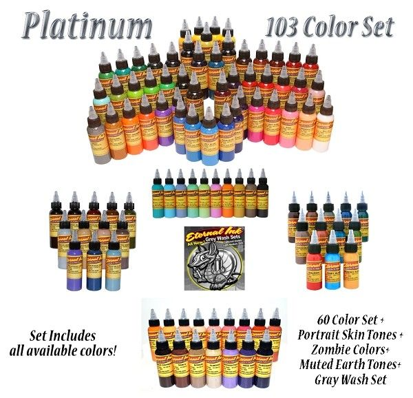 Platinum Set - Eternal Tattoo Ink - 2oz Bottle