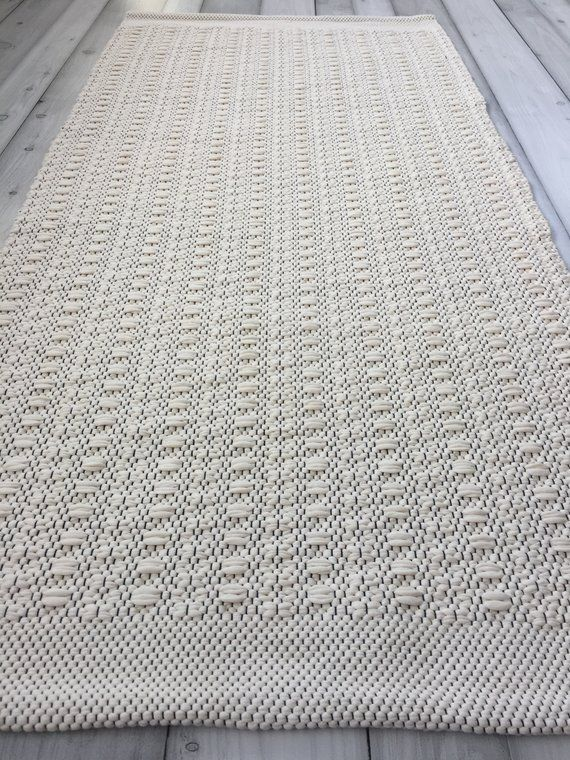 Black and white Scandinavian rug, cotton kitchen rug runner ...