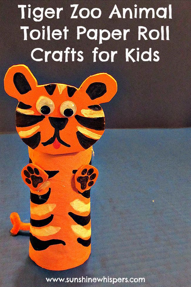 DIY Craft: DIY tiger zoo animal toilet paper roll crafts for kids  <a href=