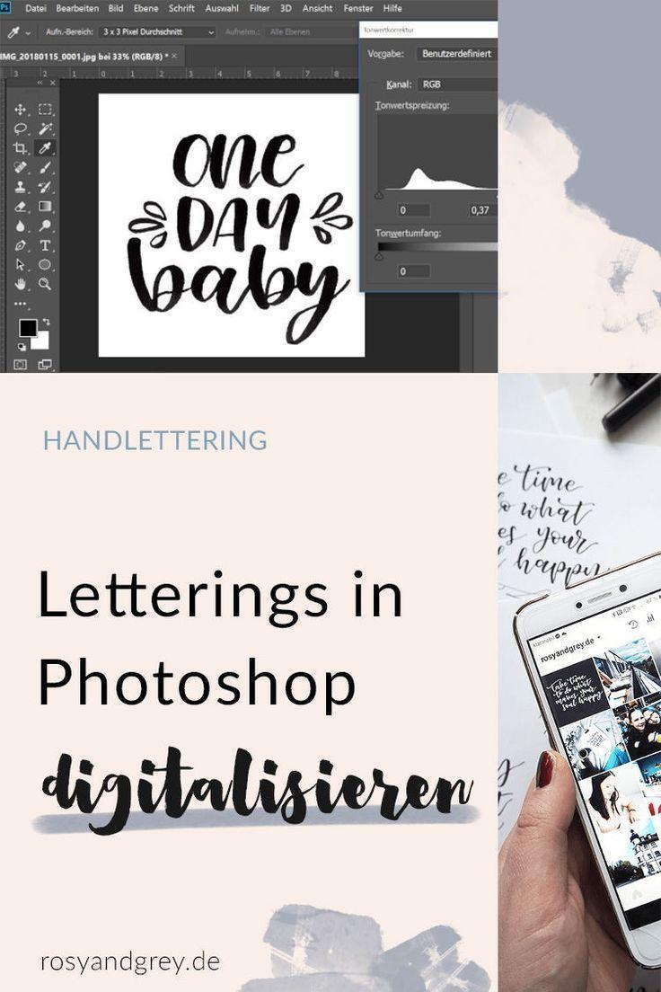 So Kannst Du In Wenigen Schritten Deine Letterings Digitalisieren