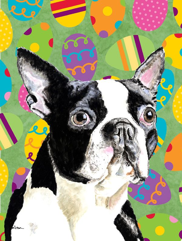 Carolineu0027s Treasures Boston Terrier Red Green Snowflakes Holiday Christmas  Canvas House Flag *** You Can Get Additional Details, Click The Image :  Garden ...