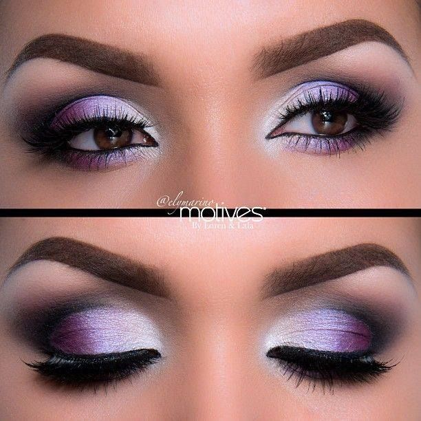 Ridiculously gorgeous purple eyeshadow for brown eyes! And check out that perfect eyebrow makeup! For a great guide on best suited eyeshadow colors for #browneyes, read our article