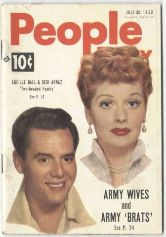 Lucy and Desi on the cover of People magazine, June 30, 1952