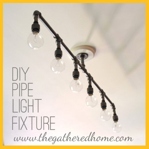 DIY: How To Make A Fabulous Plumbing Pipe Light Fixture!