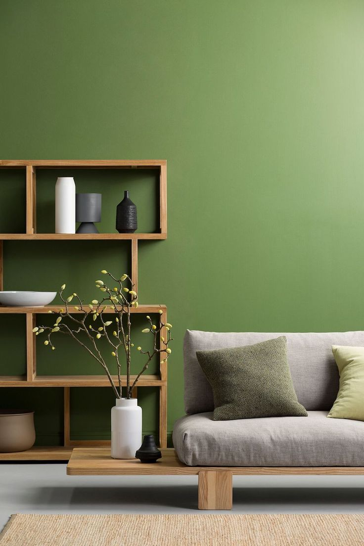 from dark and moody to stark and crisp discover the latest interior colour trends green painted wallsgreen - Interior Design Wall Painting
