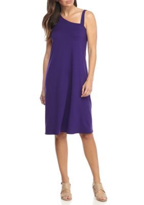 Eileen Fisher Women's One Shoulder Dress - Midnight - Xs