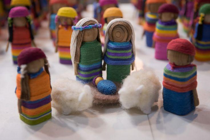 Coloratissimo presepe in lana e feltro!
